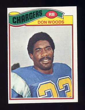1977 Topps Football #248 Don Woods - San Diego Chargers
