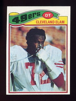 1977 Topps Football #247 Cleveland Elam - San Francisco 49ers