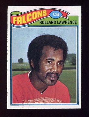 1977 Topps Football #242 Rolland Lawrence - Atlanta Falcons