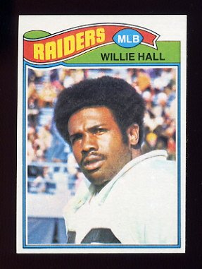 1977 Topps Football #198 Willie Hall - Oakland Raiders