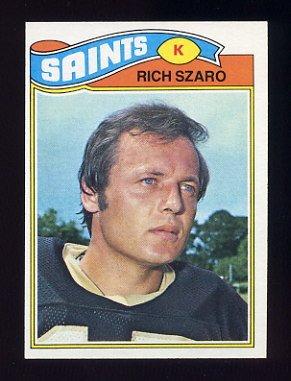 1977 Topps Football #182 Rich Szaro - New Orleans Saints