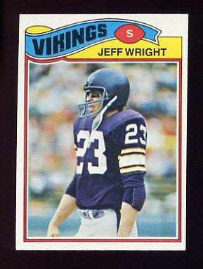 1977 Topps Football #169 Jeff Wright - Minnesota Vikings