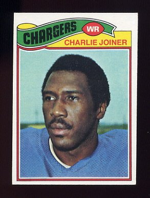 1977 Topps Football #167 Charlie Joiner - San Diego Chargers