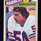 1977 Topps Football #143 Bobby Maples - Denver Broncos