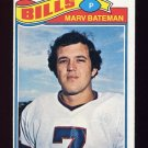 1977 Topps Football #142 Marv Bateman - Buffalo Bills