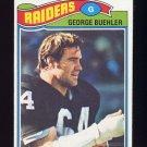 1977 Topps Football #137 George Buehler - Oakland Raiders