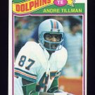 1977 Topps Football #093 Andre Tillman - Miami Dolphins