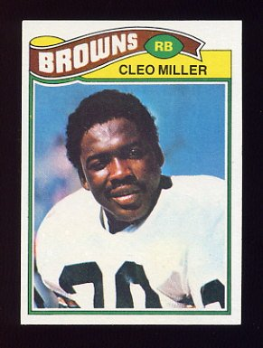 1977 Topps Football #092 Cleo Miller - Cleveland Browns