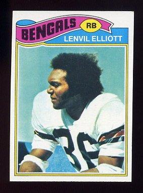 1977 Topps Football #071 Lenvil Elliott - Cincinnati Bengals