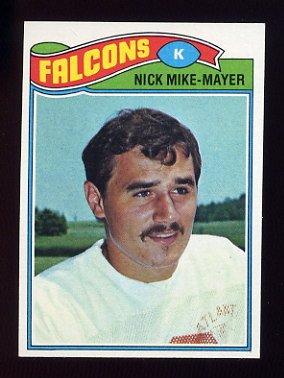 1977 Topps Football #037 Nick Mike-Mayer - Atlanta Falcons