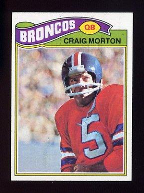 1977 Topps Football #027 Craig Morton - Denver Broncos