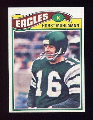 1977 Topps Football #023 Horst Muhlmann - Philadelphia Eagles
