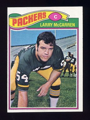 1977 Topps Football #022 Larry McCarren - Green Bay Packers