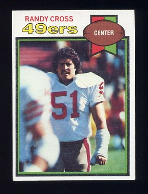 1979 Topps Football #513 Randy Cross - San Francisco 49ers NM-M