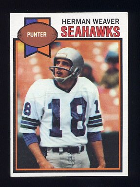 1979 Topps Football #504 Herman Weaver - Seattle Seahawks