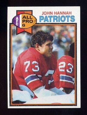 1979 Topps Football #485 John Hannah - New England Patriots NM-M