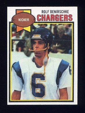1979 Topps Football #483 Rolf Benirschke - San Diego Chargers