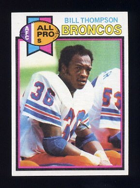 1979 Topps Football #465 Bill Thompson - Denver Broncos