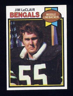 1979 Topps Football #454 Jim LeClair - Cincinnati Bengals NM-M
