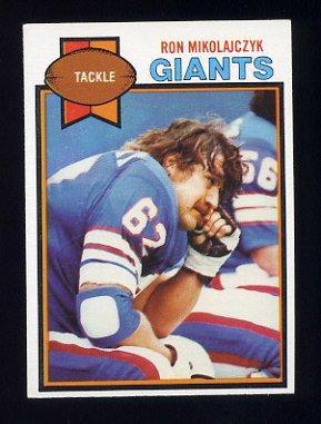 1979 Topps Football #452 Ron Mikolajczyk - New York Giants