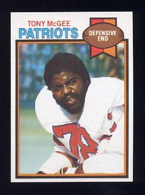 1979 Topps Football #441 Tony McGee - New England Patriots