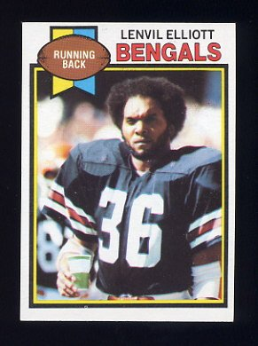 1979 Topps Football #434 Lenvil Elliott - Cincinnati Bengals