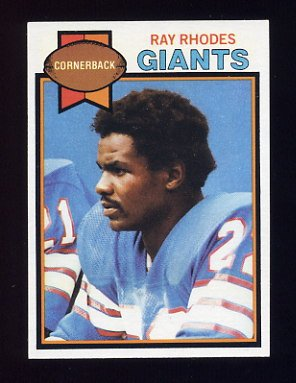 1979 Topps Football #412 Ray Rhodes - New York Giants