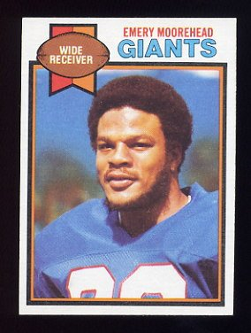 1979 Topps Football #372 Emery Moorehead - New York Giants