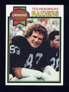 1979 Topps Football #345 Ted Hendricks - Oakland Raiders