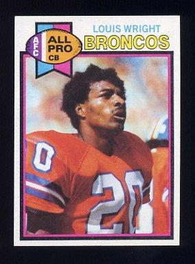 1979 Topps Football #340 Louis Wright - Denver Broncos