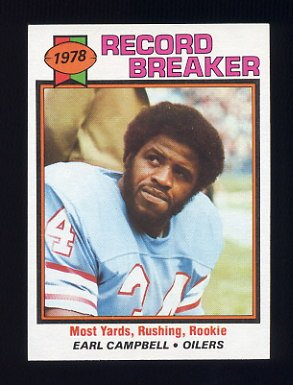 1979 Topps Football #331 Earl Campbell RB - Houston Oilers