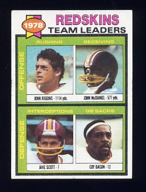 1979 Topps Football #319 Washington Redskins TL / John Riggins