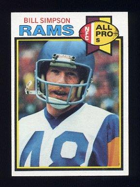 1979 Topps Football #312 Bill Simpson - Los Angeles Rams