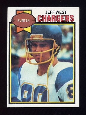 1979 Topps Football #306 Jeff West - San Diego Chargers