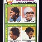 1979 Topps Football #244 Seattle Seahawks TL / Steve Largent ExMt
