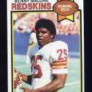 1979 Topps Football #196 Benny Malone - Washington Redskins