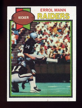 1979 Topps Football #068 Errol Mann - Oakland Raiders