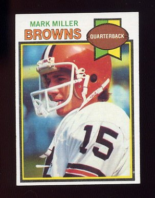 1979 Topps Football #053 Mark Miller - Cleveland Browns