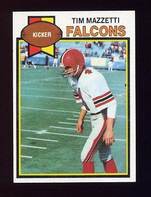 1979 Topps Football #036 Tim Mazzetti - Atlanta Falcons