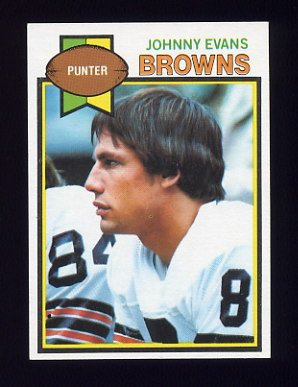 1979 Topps Football #033 Johnny Evans - Cleveland Browns