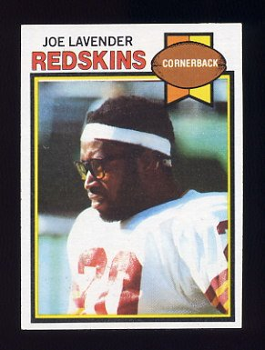 1979 Topps Football #031 Joe Lavender - Washington Redskins