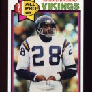1979 Topps Football #030 Ahmad Rashad - Minnesota Vikings