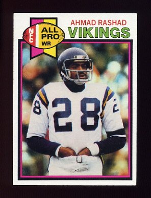 1979 Topps Football #030 Ahmad Rashad - Minnesota Vikings