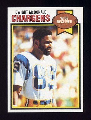 1979 Topps Football #017 Dwight McDonald - San Diego Chargers