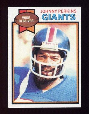 1979 Topps Football #007 Johnny Perkins - New York Giants