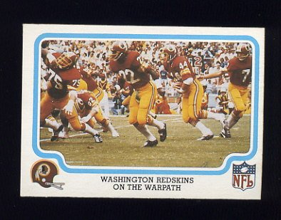 1979 Fleer Team Action Football #55 Washington Redskins