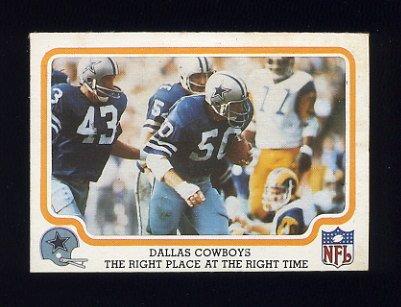 1979 Fleer Team Action Football #14 Dallas Cowboys