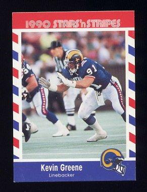 1990 Fleer Stars and Stripes Football #77 Kevin Greene - Los Angeles Rams
