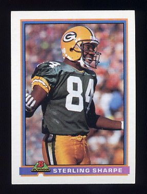 1991 Bowman Football #172 Sterling Sharpe - Green Bay Packers