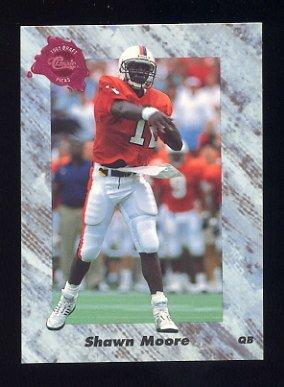 1991 Classic Four Sport Football #224 Shawn Moore - Denver Broncos